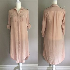 Banana Republic Silk Shirt Dress Size 0 Casual